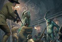 Scene / Artwork di scene a tema fantasy o horror fantasy tratte da ambientazioni di giochi da tavolo, giochi di ruolo, racconti o altro...
