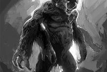 Lovecraft H. P. / Creature e personaggi ispirati ai racconti e alla mitologia di Lovecraft. Tra questi anche personaggi non tratti direttamente dalle opere di Lovecraft, ma adatti ad essere i protagonisti di giochi di ruolo come Sulle tracce di Cthulhu.