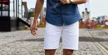 Shorts Styles For Him / A perfectly composed shorts style with great shorts and top is hard to overcome. Here's some inspiration for your or your dream boyfriend's shorts outfits.