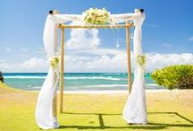 """Beach Wedding Canopies & """"Chapels"""" / Create your own wedding chapel on the beach by framing the location with a canopy, arch or aisle. Drape it in gauzy fabric or cover it with flowers and crystal garland. Whatever you do, make it your own! Many of my brides send me inspiration photos for their beach wedding in St. Thomas from Pinterest. Just send me a photo and I can add that style canopy to your St. Thomas wedding package."""
