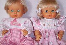 Dolls, muñecas, poupée. / Fofuchas. Barbie. Nancy. Dolls. Trolls. Goma Eva. Casita de muñeca, doll house, DYC / by Puerta de la Vera. Spain.