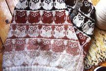 NEULEMALLEJA / kirjoneule,pesulappu,neulekuvio,sukka,lapas,ym malleja