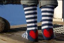 sukkia neulotut ,virkatut