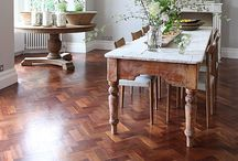 Solid wood floors / Love the luxury of solid wood floors, even old wood floors have so much character.