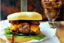 Sandwich and Burger Board / Classic, stuffed, beef, black bean, it's all good.