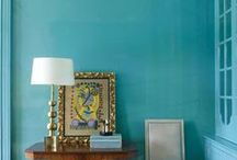 Sherwin Williams 'Freshwater' / A collection of inspiration images inspired by the 2017 color trend, Sherwin Williams 'Freshwater'...