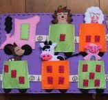 Kaliniaki Quiet book felt / ręcznie tworzone artykuły dla dzieci