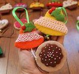 Boże Narodzenie Christmas decorations felt handmade by KALINIAKI