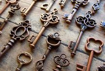 Vintage keys, switch plates, door knobs and more...