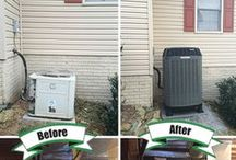 Before & After / Before & after photos of our installations.