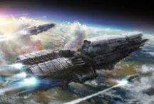Spaceships Concept Arts