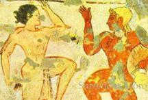 Etruszk művészet / Etruszk művészet, sír- és vázafestészet