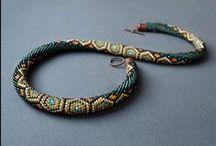 háčkované náhrdelníky / Bead crochet patterns