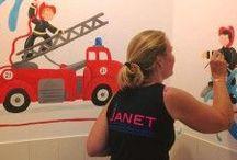 Janet Muurschilderingen / Eigen muurschilderingen