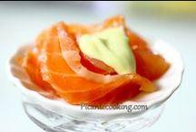 Блюда из семги / Горячие и холодные блюда из семги