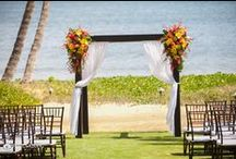 Wedding Canopies We Love / Here is a collection of photos of wedding canopies that we love, plus some are photos showing the versatility of our wedding arches for each Maui wedding that takes place here at our beautiful Maui venue by the ocean.