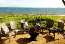 Our Fire Pit / Photos of our fire pit at Sugar Beach Events, an oceanfront venue on Maui's south shore.
