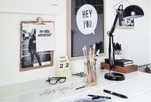 My Little Creative Desk / Idées pour installer un petit coin bureau Homme Office