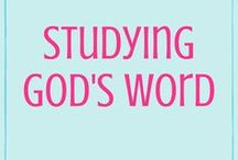Studying God's Word | Bible Study | Quiet Time / Tips and tricks for how to study the Bible as well as Bible study resources. There's no right or wrong way to study God's Word, so find what works best for you and Him! :)
