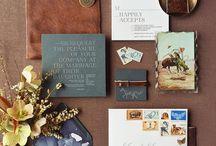 WEDDING STATIONERY / Beautiful wedding invitations, place cards and envelopes