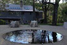 WATER in the garden / inspiracje na temat ciurkadeł i innych elementów z wykorzystaniem wody (w ruchu)