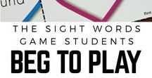 Sight Words Activities / Games, activities, lessons for teaching sight words. Hands on resources for early readers.