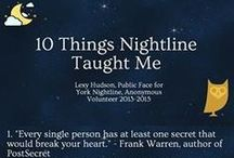 10 Things Nightline Taught Me / One of our newest public faces, Lexy Hudson, has taken to social media to post '10 Things Nightline Taught Me', detailing the most important things she's learned from her two years as an anonymous volunteer. We hope these give you an insight into what the service strives for and what we might be able to offer you.