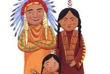 Indiánok / Képek, színezők, sablonok, rejtvények indiánokról