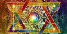 Sacred Geometry / Flower of Life. Vesica Piscis. Platonic Solids. Golden Mean Proportions. Phi Ratio.Fibonacci Spirals. Metatron's Cube. Merkaba. Torus. Crystal Structures. Tree of Life. Seed of Life. Sri Yantra. Mandala