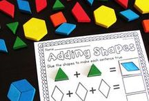 Geometry Activities for First Grade and 2nd Grade / Anchor charts, free stuff, games, and art ideas for teaching students that learning geometry can be fun. Lesson plans and assessments for teaching small groups and whole group the common cores for Geometry in first grade and 2nd grade.