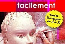 apprendre la sculpture de l'argile en ligne / Oui vous pouvez faire de la sculpture tranquillement depuis chez vous avec mes conseils vous allez créer des sculptures dont vous serez fiers !  commencez en téléchargeant mon livre gratuit  http://mainsdanslaterre.com/debutants-commencez-ici/