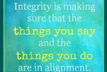 Integrity / June's character trait is Integrity: Living a set of values with includes honesty, respect for others and a sense of personal responsibility.