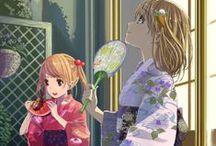 Anime kimono girls /  #kawaii #anime #girls #kimono #japanese