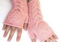 Knit-crochet gloves / kötött-horgolt kesztyűk