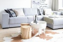 Home LIVING ROOM ♥ / I love natural colours in my home