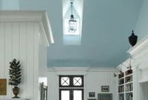 Painted Ceilings / There's no rule that ceilings should be white!