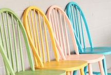 Paint Your Chair! / Create a stylish seat with a quick coat of paint.