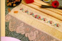 cross stitch / towels