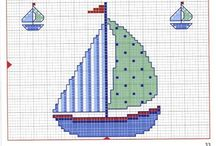 cross stitch / seaside /marina