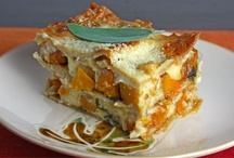 Lasagna Recipes / Lasagna _ are a wide, flat shape, & possibly one of the oldest types of pasta. It also refers to a dish made with several layers of lasagne sheets. Lasagne originated in Italy, in the region of Emilia-Romagna. Traditional is made by interleaving layers of pasta with layers of sauce, made with ragù, bechamel, & Parmigiano-Reggiano. In other regions & outside of Italy it is common to find lasagne made with ricotta or mozzarella cheese, tomato sauce, various meats, & miscellaneous vegetables (Wiki) / by Singing Pines