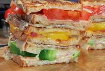 Grilled Sandwiches / Grilled Sandwiches {Hot, Crisped Sandwiches} > Broiled Sandwiches, Bruschetta, Crostini, Grilled Cheese Sandwiches, Oven-Baked Sandwiches, Panini Sandwiches, Toasted Sandwiches, etc. / by Singing Pines
