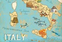 Travel: Italy / Italy Listeni/ˈɪtəli/ (Italian: Italia [iˈtaːlja]), officially the Italian Republic (Italian: Repubblica italiana), is a unitary parliamentary republic in Southern Europe. To the north, Italy borders France, Switzerland, Austria, and Slovenia, and is approximately delimited by the Alpine watershed, enclosing the Po Valley and the Venetian Plain. To the south, it consists of the entirety of the Italian Peninsula and the two biggest Mediterranean islands of Sicily and Sardinia. / by Cynthia Blixt