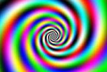 COLORED OPTICAL ILLUSIONS / Just optical
