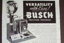 Busch / Busch Optical Mfg. Co., also known as Busch Precision Camera Corporation was a camera maker in Chicago, Illinois, USA. (Camerapedia)