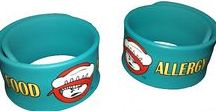 Uncanny Slap Bracelets / Call them a slap bracelet or a slap band, we call them fun!  This colorful wrist band is sure to get the attention of any caregiver about your child's allergy.