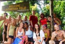 Volunteers / Volunteers at the turtle conservation project La Tortuga Feliz