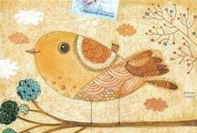 ptaki malowane/bird painting
