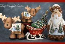Christmas - polymer clay / vánoční ozdoby z polymerové hmoty, christmas ornaments from polymer clay