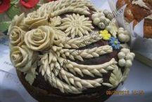 Shaped pies, Decorative breads -  Ozdobné tvary koláčů / rozmanitě tvarované koláče