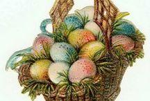 Easter -Velikonoce - Vintage / staré velikonoční pohlednice